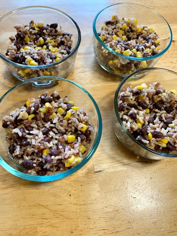 quinoa rice burrito meal prep